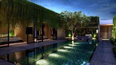 éclairage tendance piscine