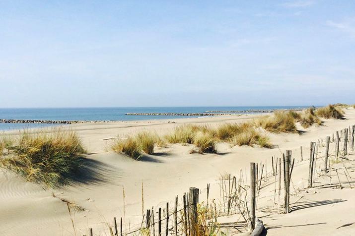 La plage de l'Espiguette au Grau du Roi à Montpellier