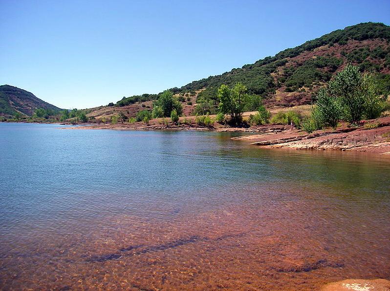 Le lac du Salagou à Montpellier