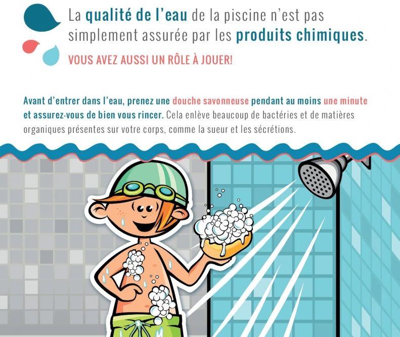 Pour éviter toute transmission du coronavirus en allant dans le bassin de la piscine, mieux vaut insister sur la douche !