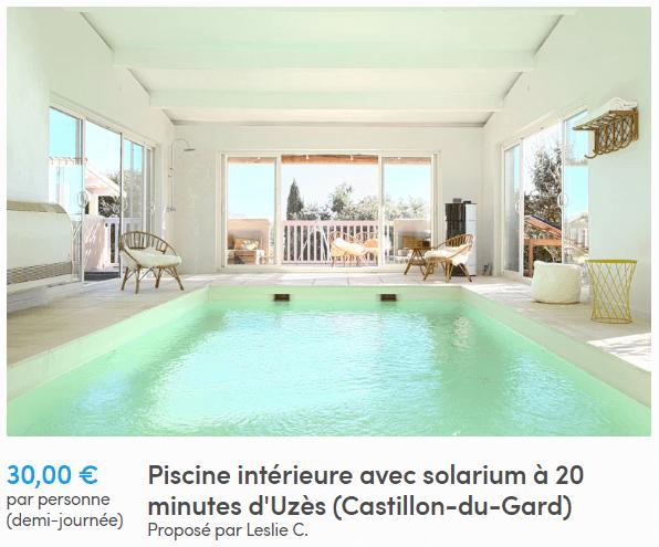 Anniversaire piscine intérieur