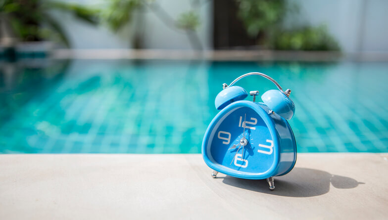 Horloge piscine