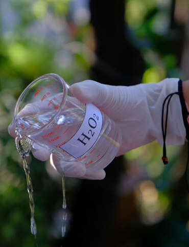 Dosage oxygène actif liquide